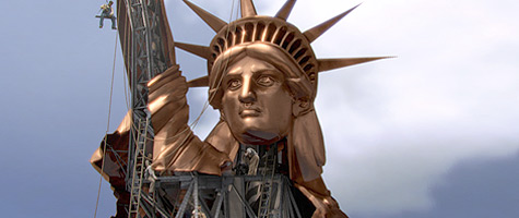 builder of the statue of liberty
