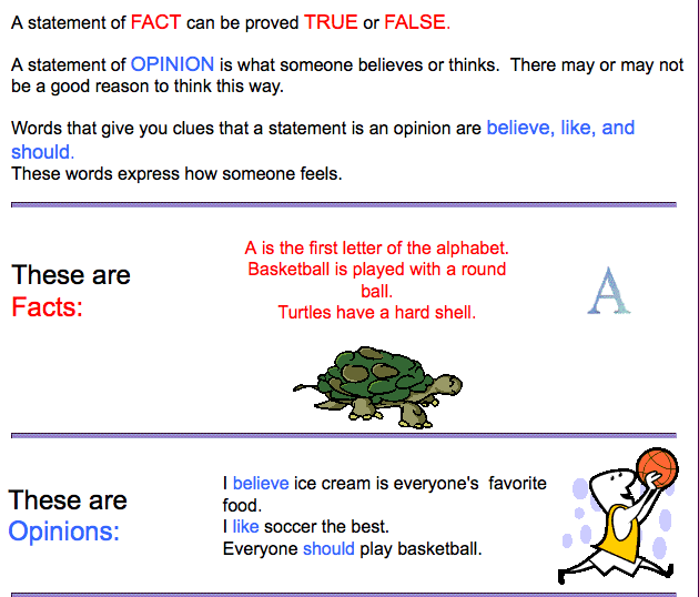 fact or opinion review The pew website lets anyone take a quiz featuring 10 statements, five that are  true-or-false factual statements and five that are opinion.